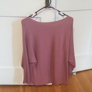 Vince camuto ribbed boatneck batwing sweater